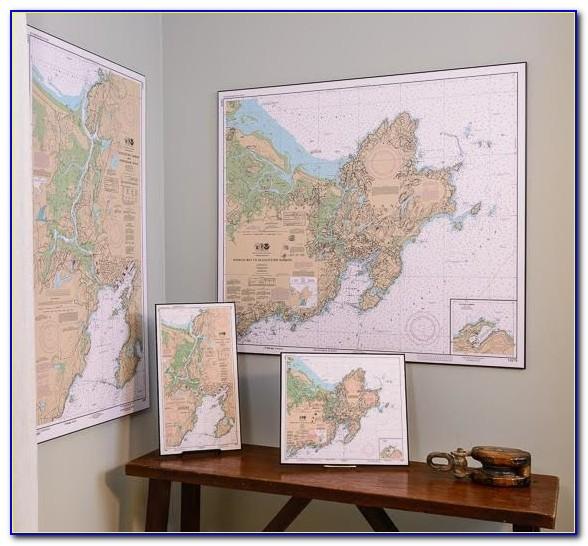 Nautical Maps Framed
