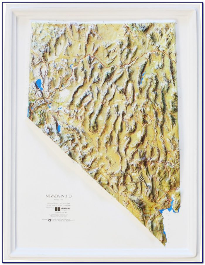 Nevada Relief Map