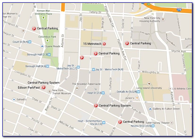 New York City Parking Garage Map