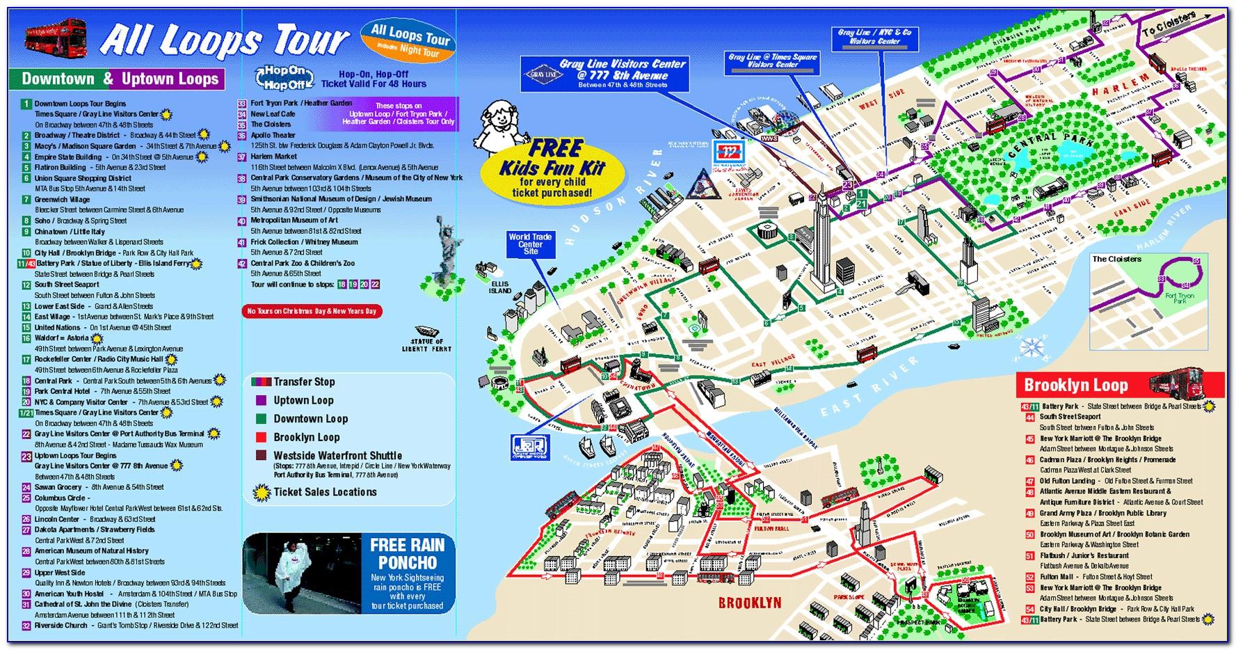 New York City Sightseeing Map Pdf