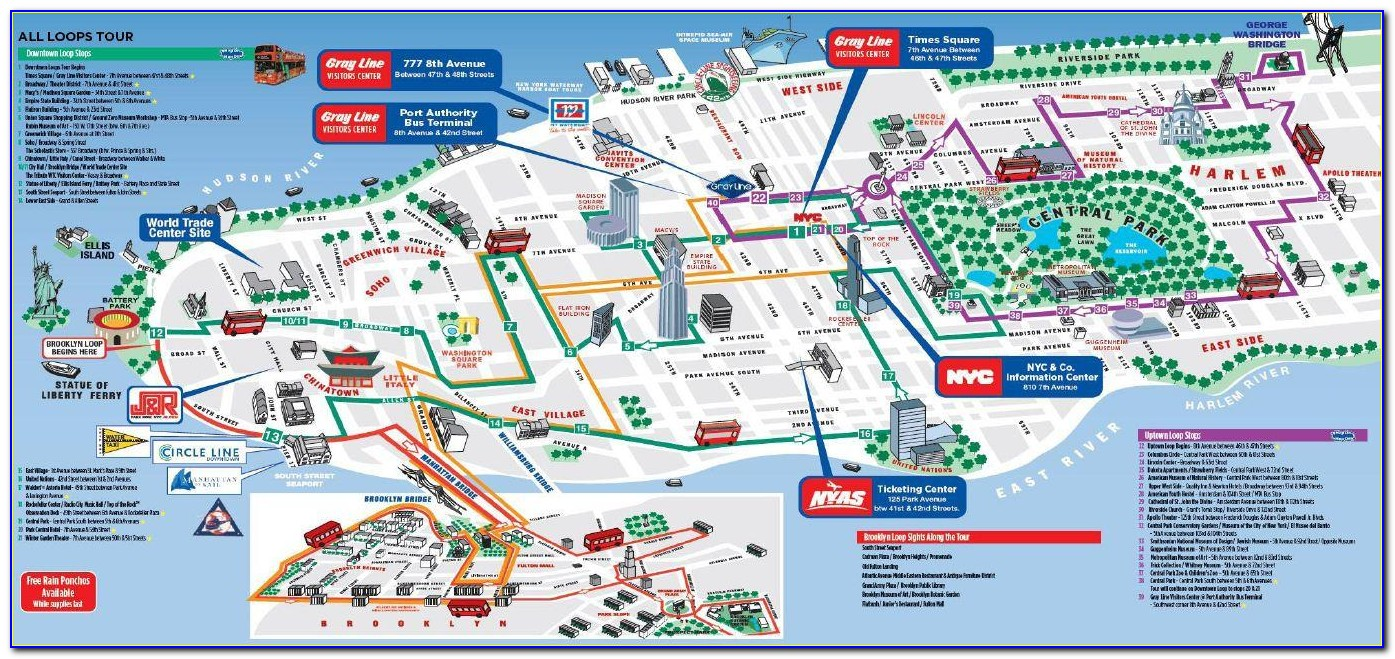 New York Hop On Hop Off Bus Map