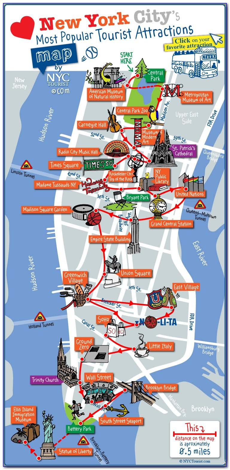 New York Sightseeing Map Pdf