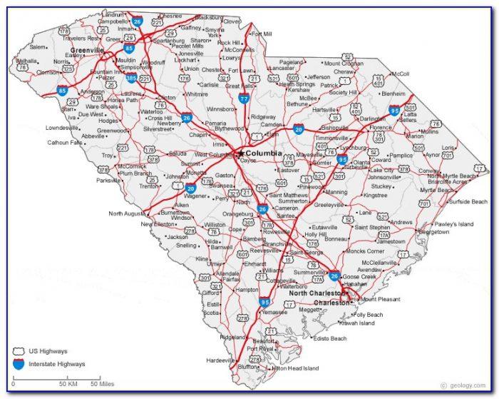 Wall Map Of North And South Carolina - Maps : Resume ...