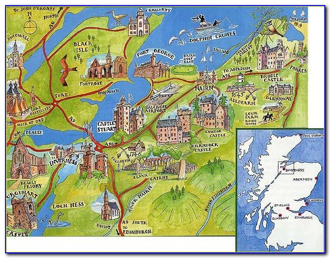 North East Scotland Castles Map