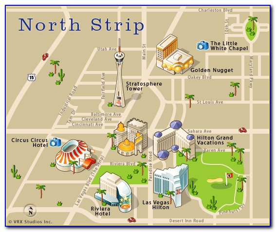 North Las Vegas Hotels Map