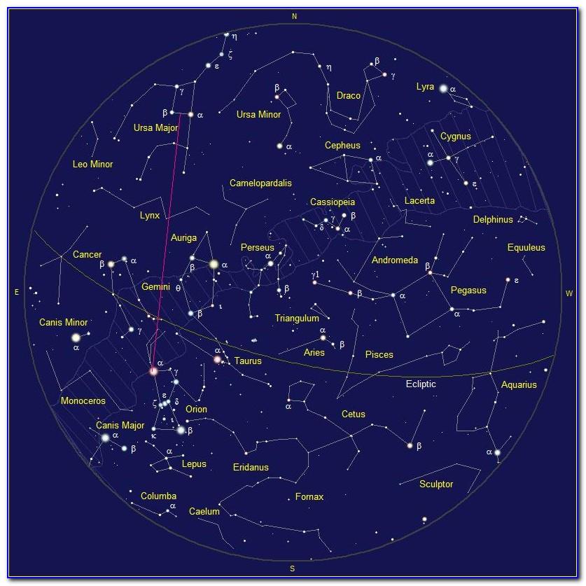 North Star Constellation Map
