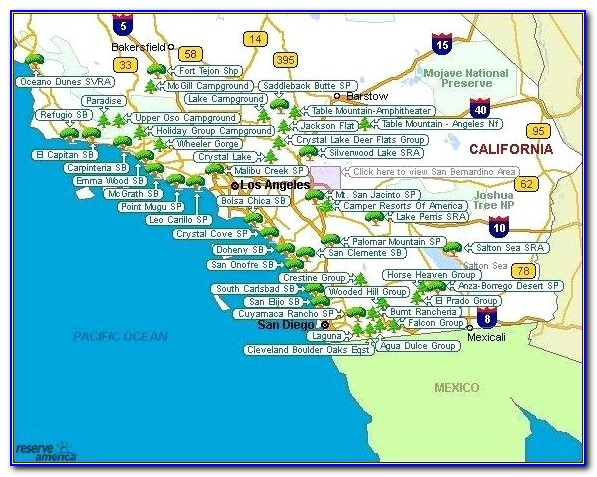 Northern California Rv Park Map