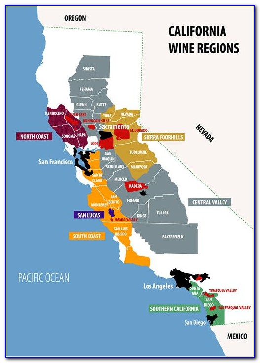 Northern California Wine Appellation Map