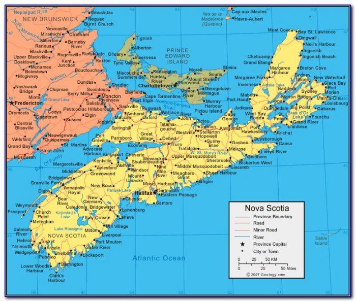 New Brunswick Nova Scotia Pei Map Maps Resume Examples