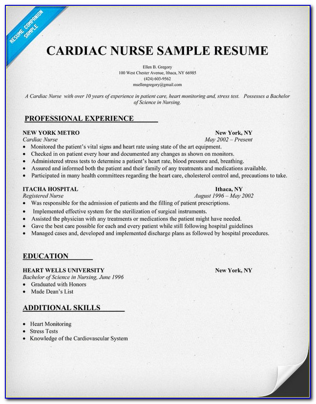 Nursing Resume Builder Free