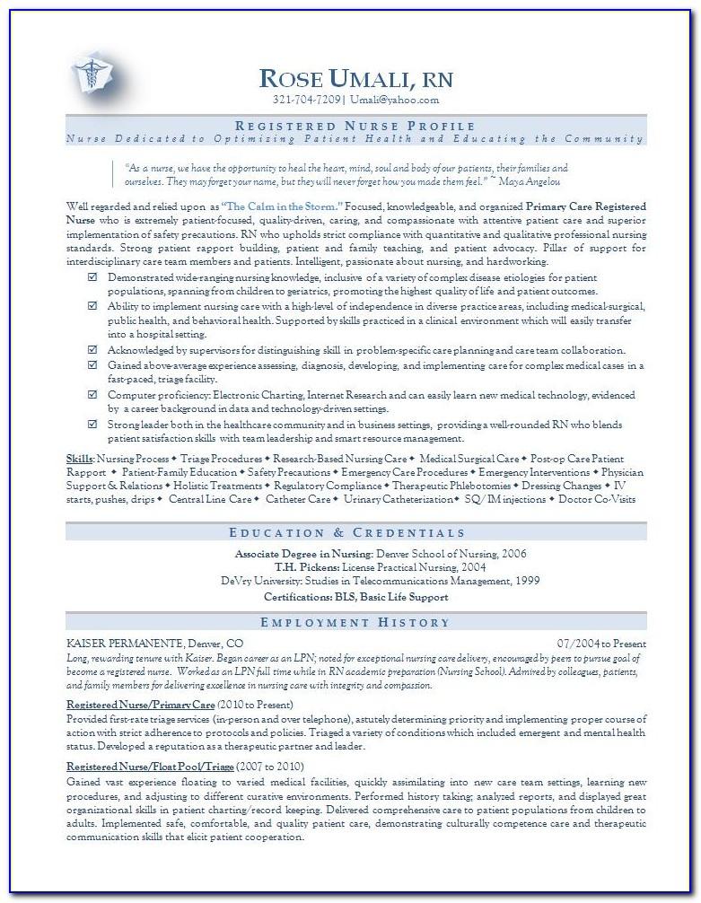Nursing Resume Template 2018