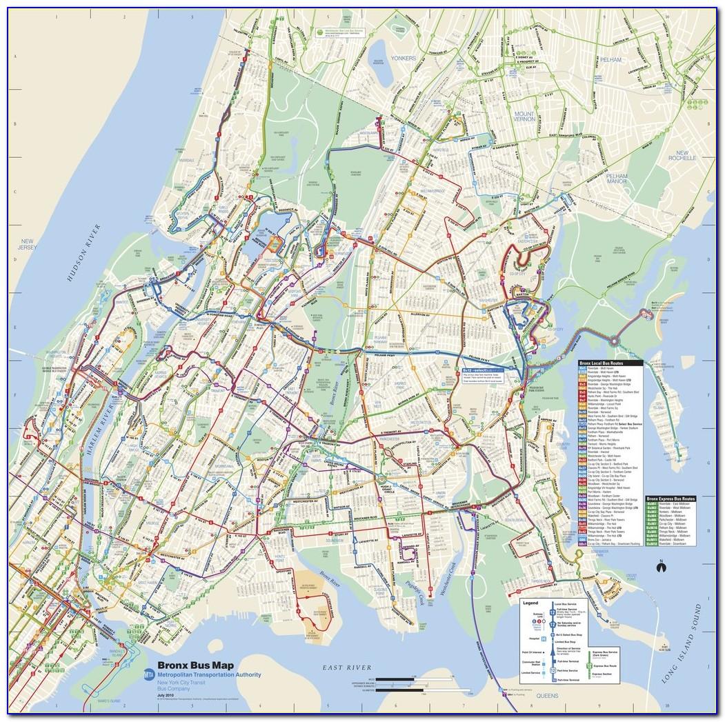 Nyc Bus Map Manhattan Bronx
