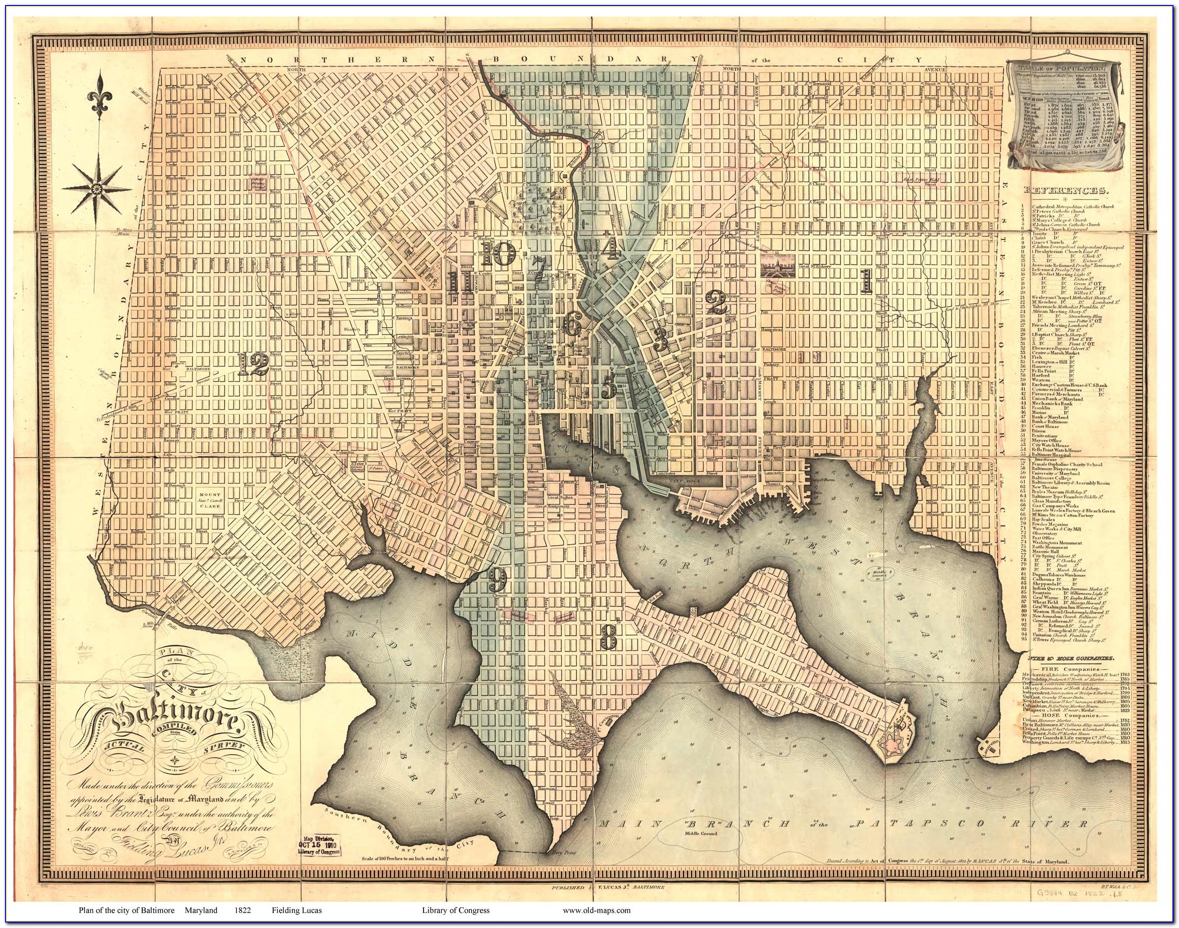 Old Baltimore City Maps