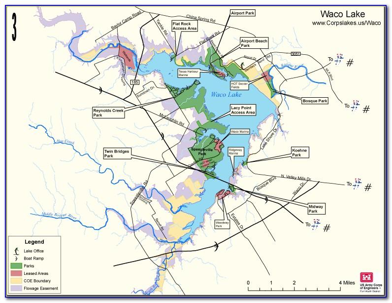 Old Lake Waco Map