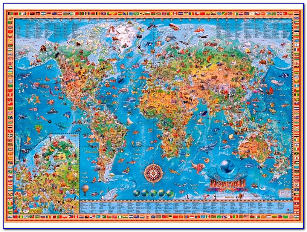 Old Map Of The World Jigsaw Puzzle