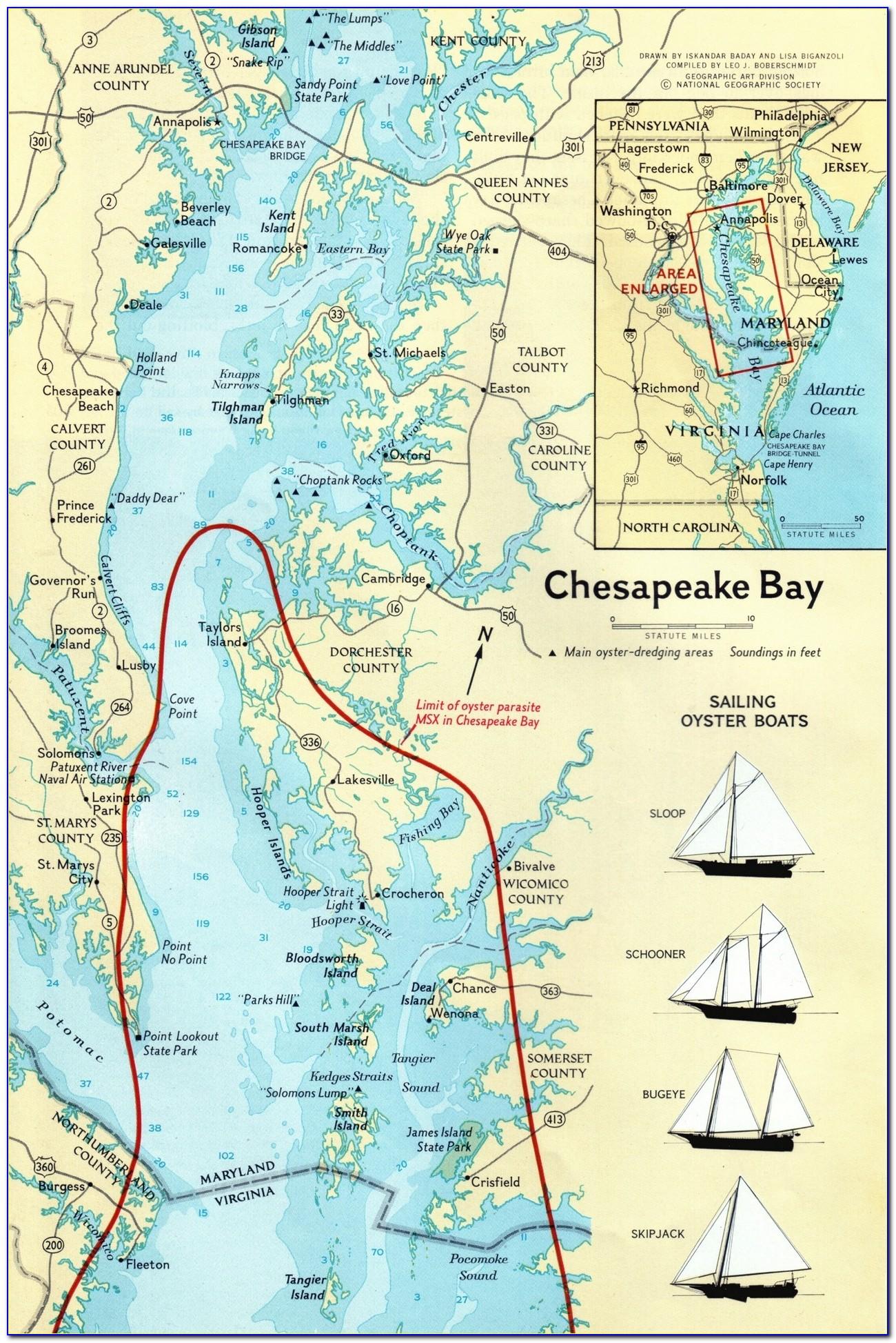Old Maps Of Chesapeake Bay