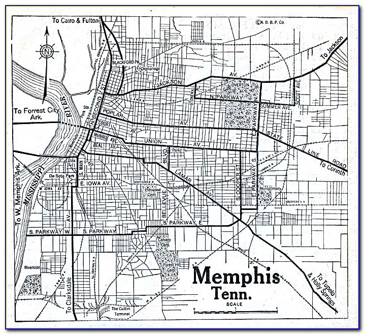 Old Maps Of Memphis Tn