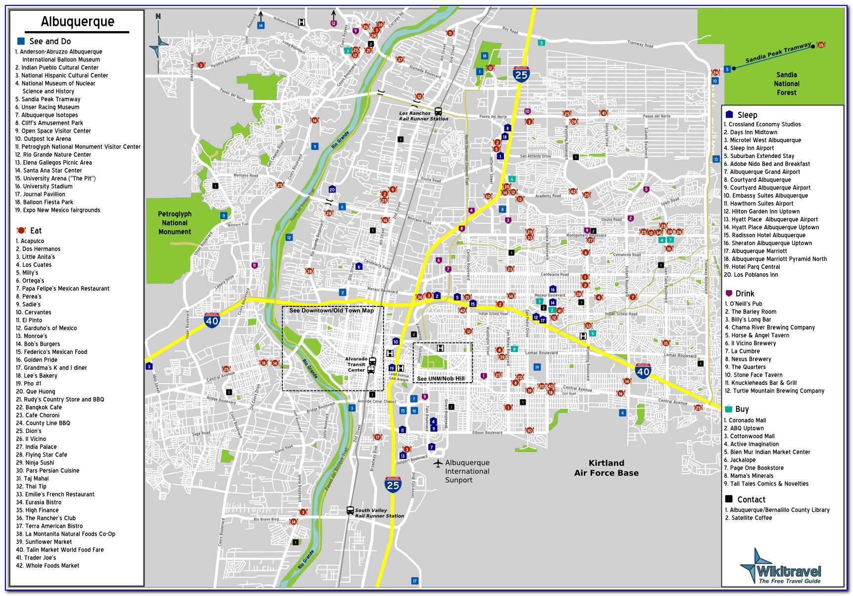 Old Town Albuquerque Hotels Map