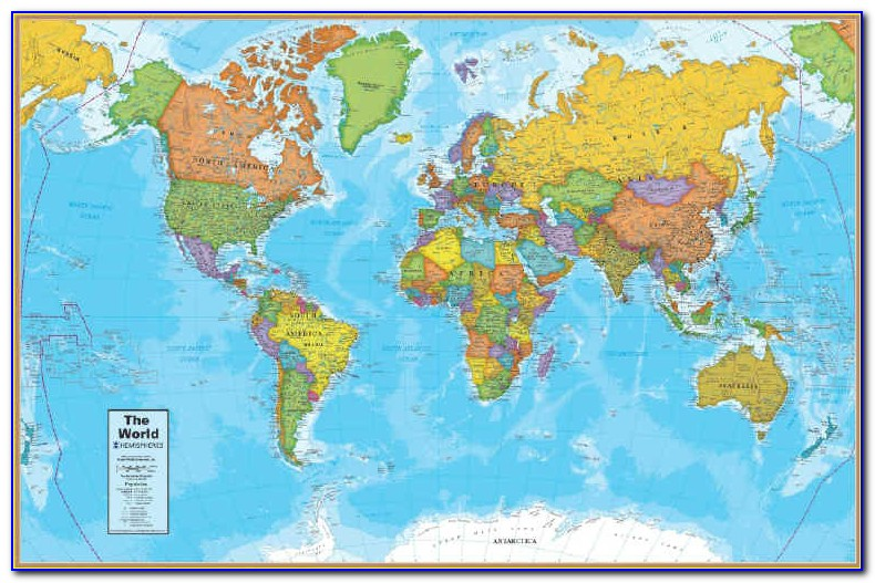 Old World Map Desk Pad