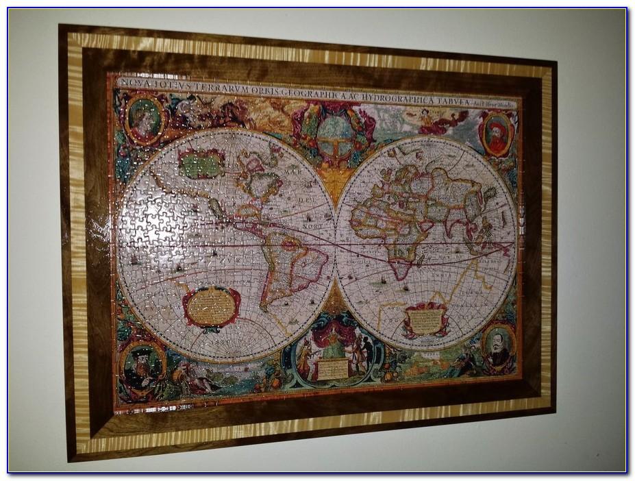 Old World Map Framed Art