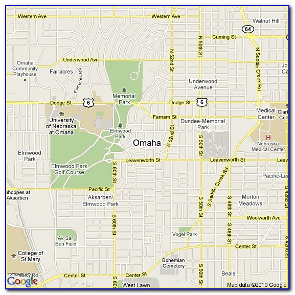 Omaha Hotels Map