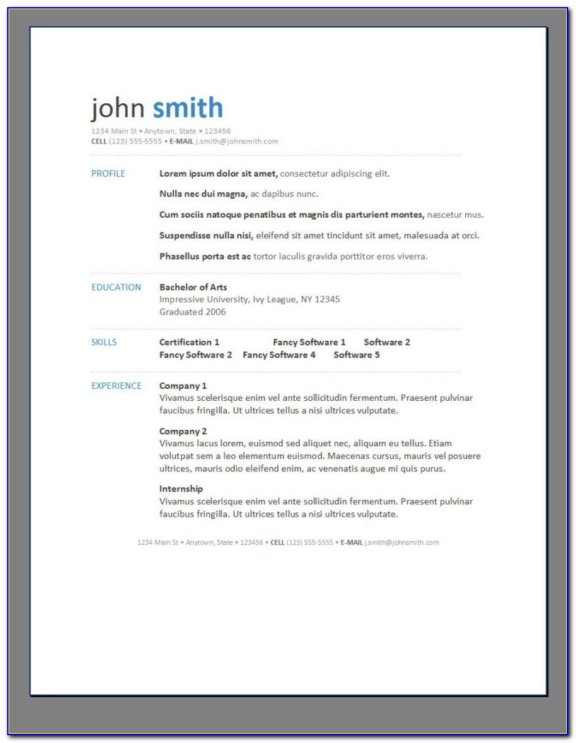 Online Resume Builder Free Download