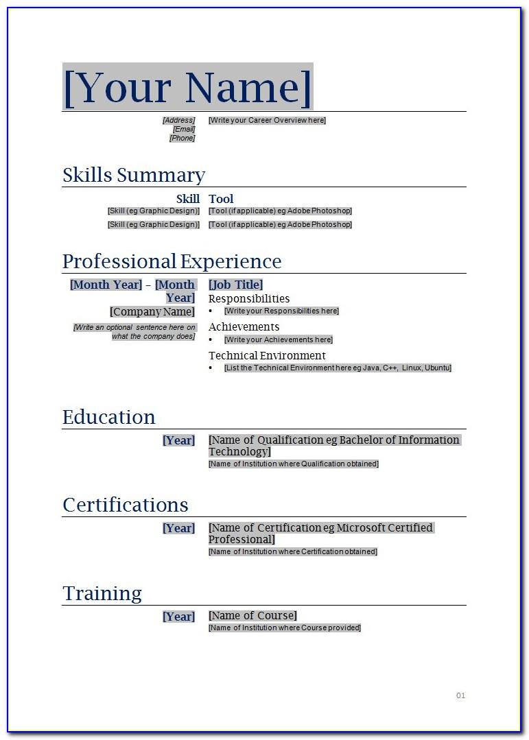 Online Resume Builder Free For Students