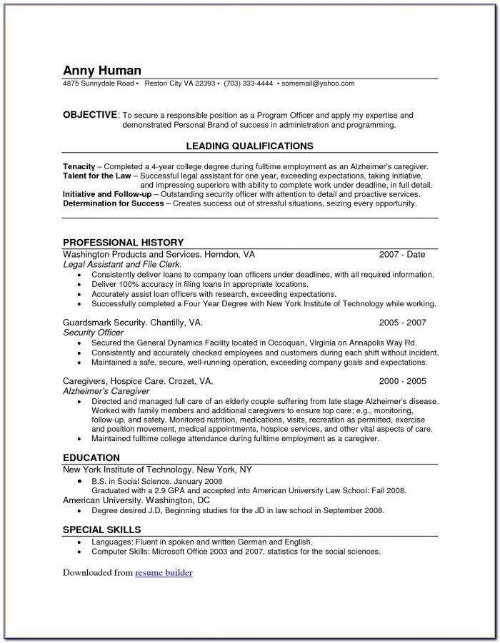 Online Resume Creator Free