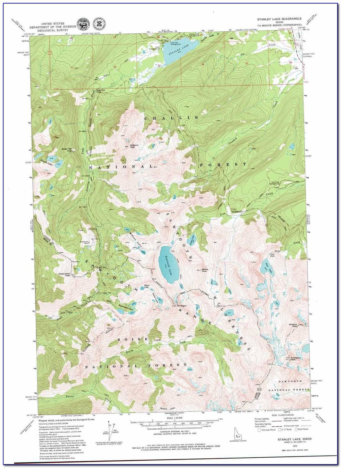 Online Topo Map Idaho