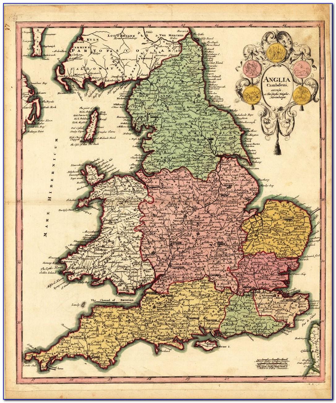 Original Antique Maps Uk
