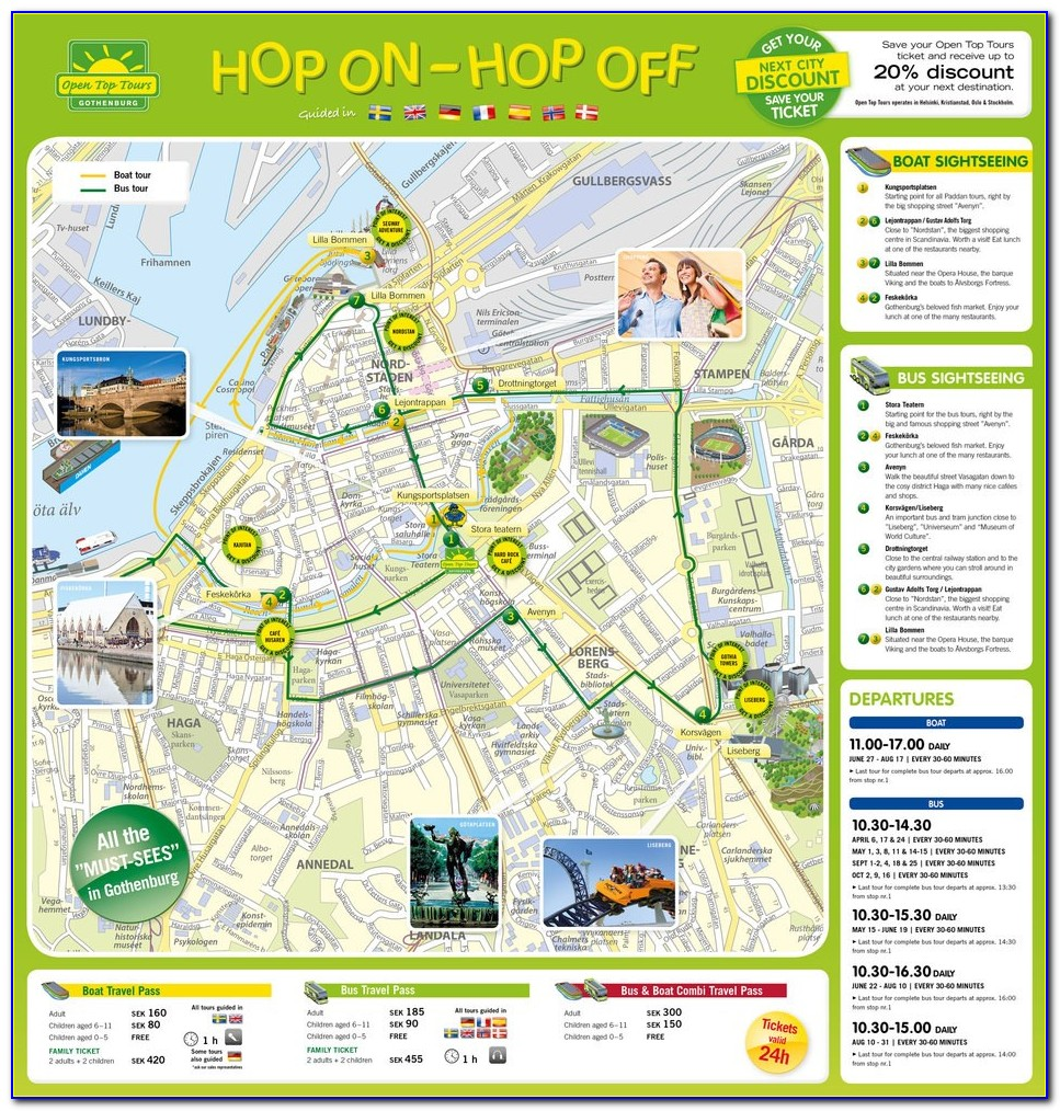 Oslo Hop On Hop Off Bus Route Map