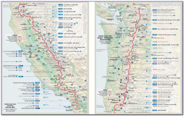 Pacific Crest Trail Map Oregon 3.jpg - Maps : Resume ...
