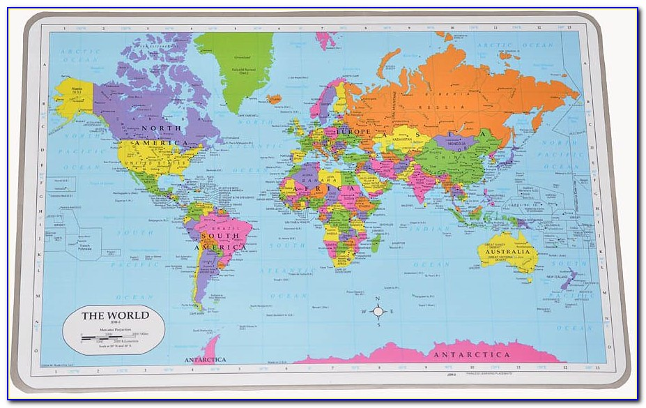 Painless Learning World Map Placemat