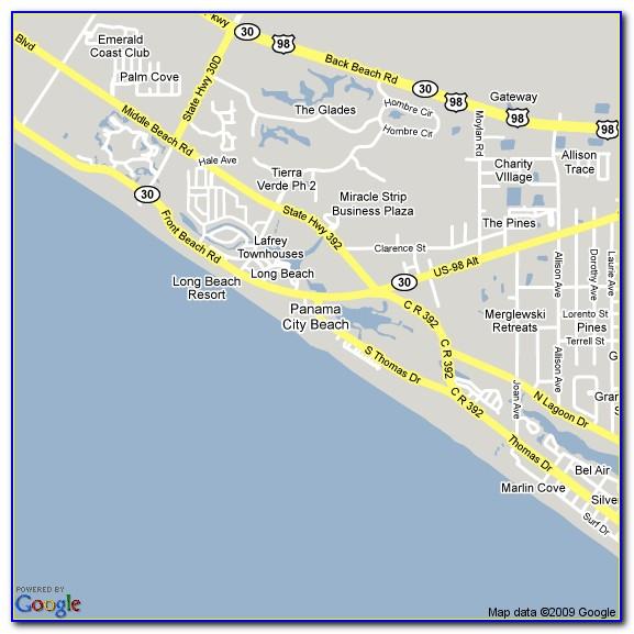 Panama City Beach Hotels Map
