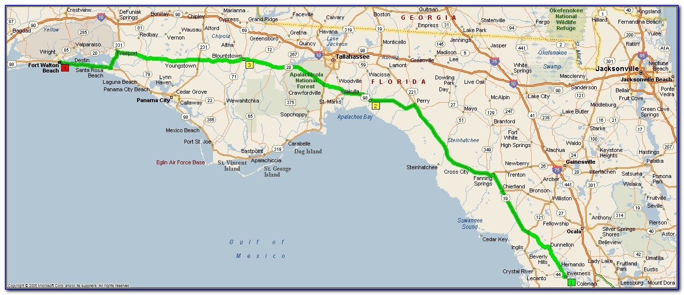 Panhandle Map Of Florida Destin Fl