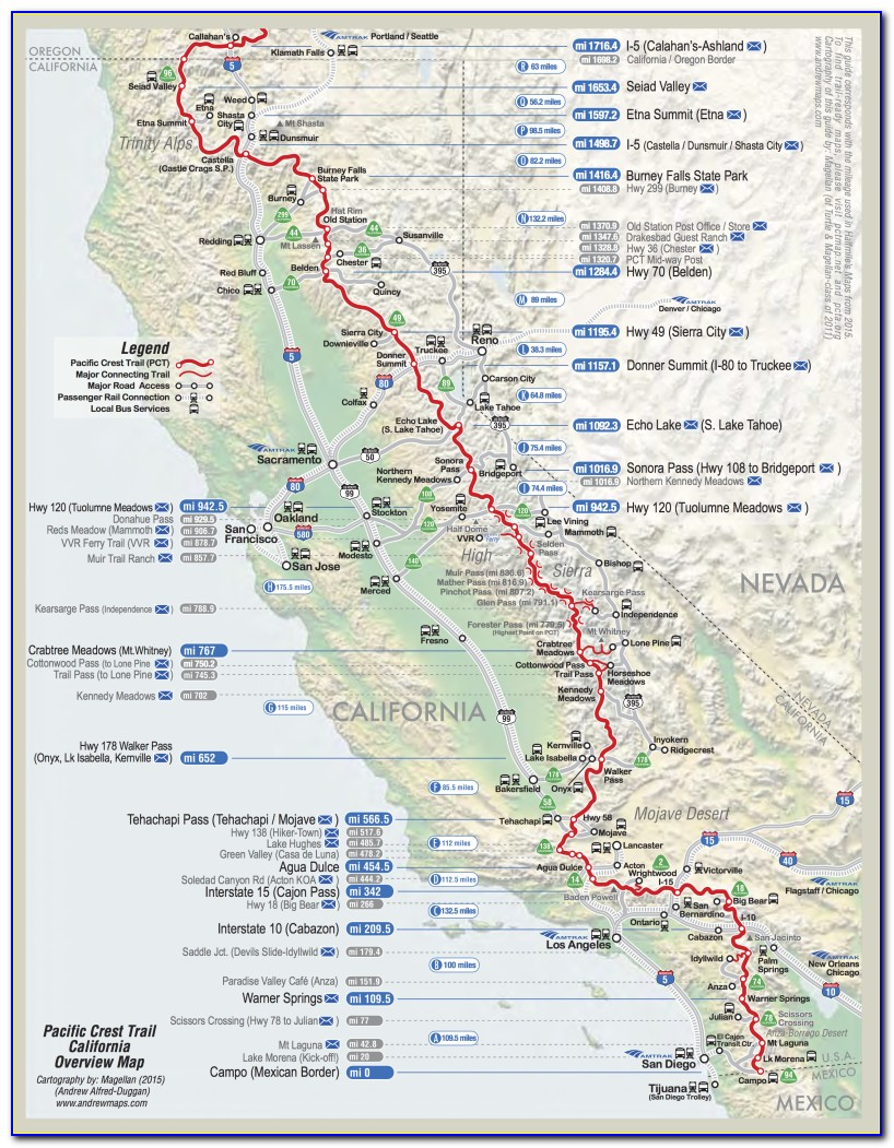 Pct Trail Map Washington
