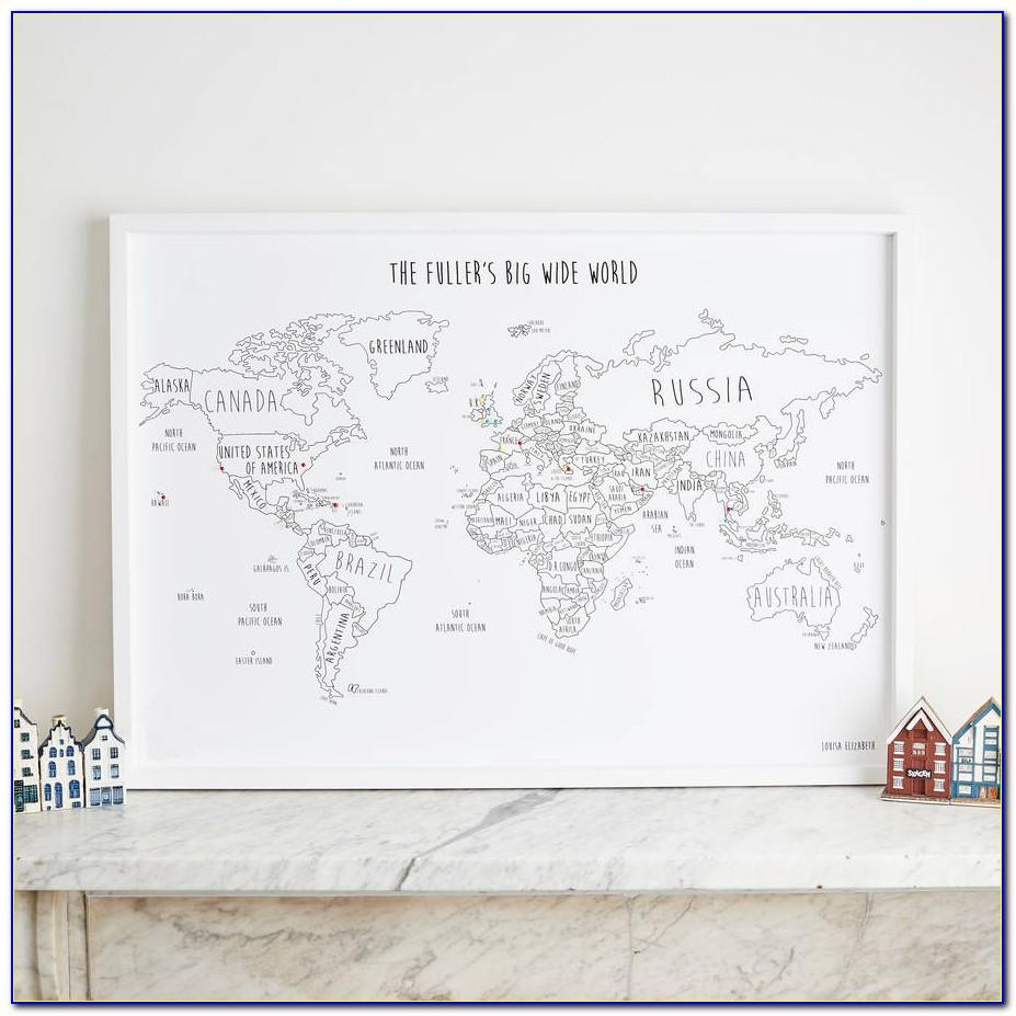 Personalised World Traveller Map Australia