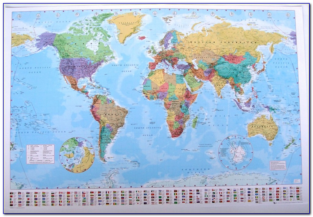 Peters World Map Laminated