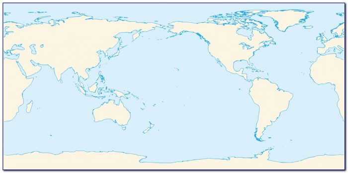 Peters World Map Pacific Centered