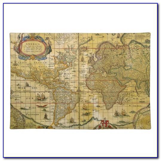 Pimpernel Vintage World Map Placemats