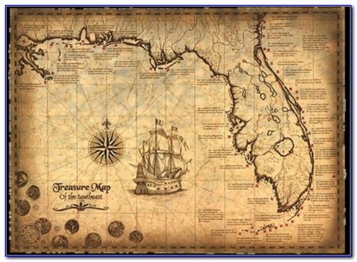 Pirate Treasure Map Images