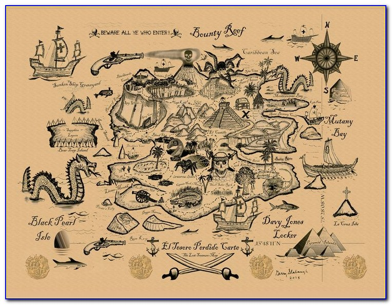 Pirate Treasure Map Ks1