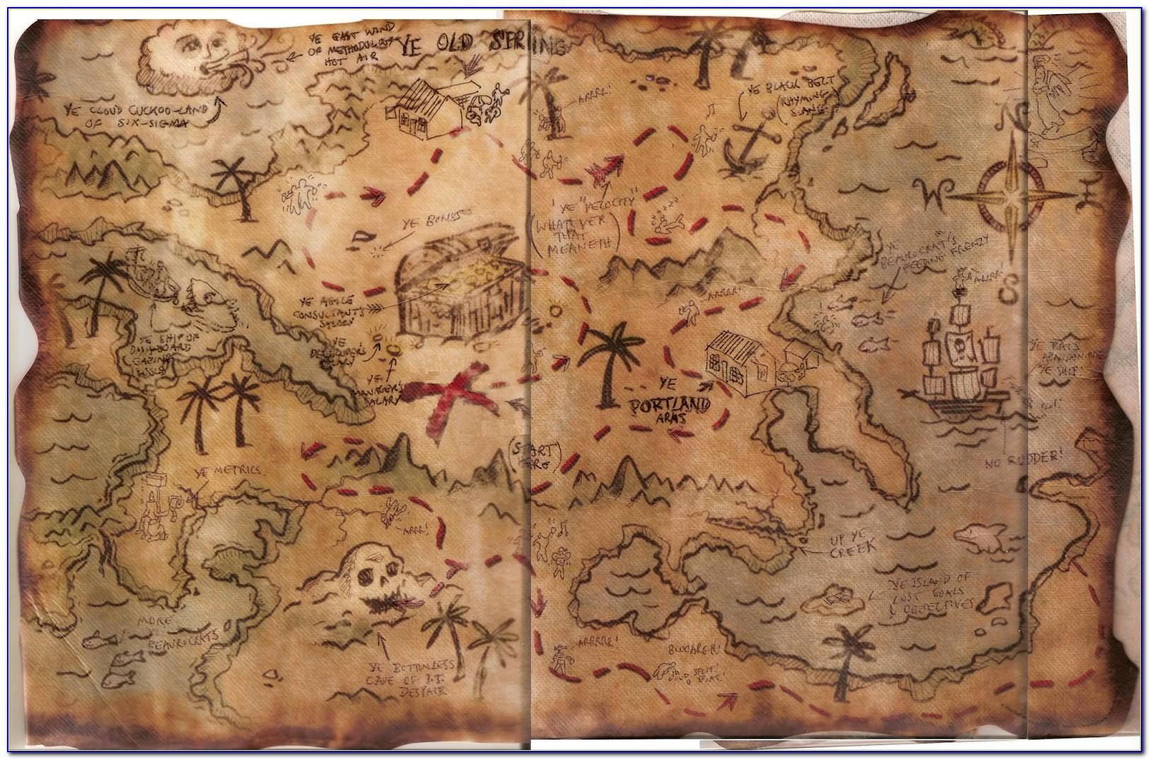 Pirate Treasure Map Printable Worksheets