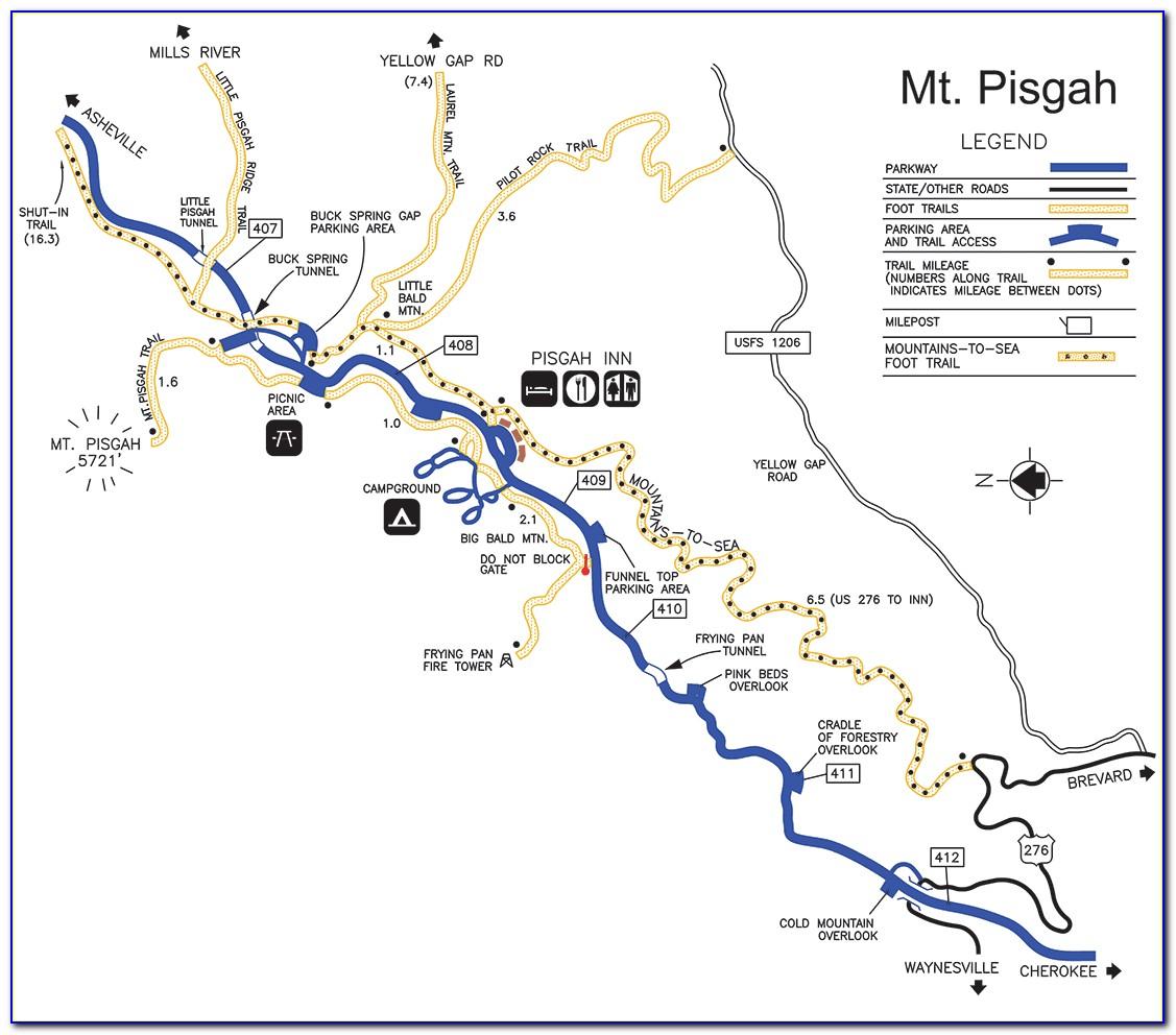 Pisgah National Forest Bike Trail Map
