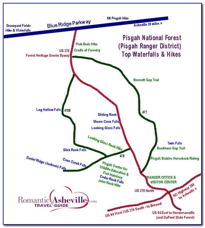 Pisgah National Forest Hiking Map