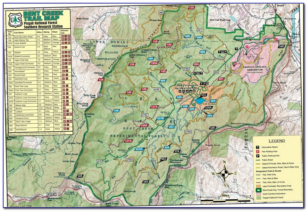 Pisgah National Forest Trail Map Pdf