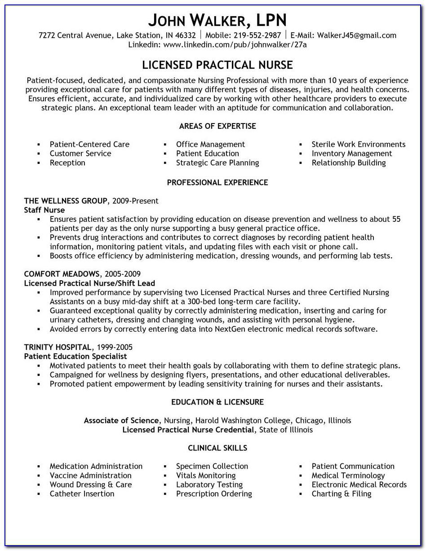 Practical Nursing Resume Templates