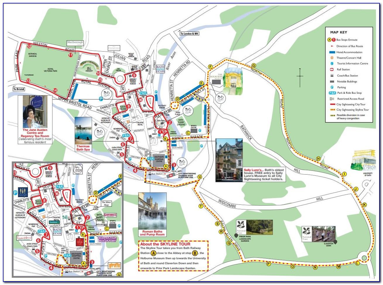 Prague Hop On Hop Off Bus Route Map