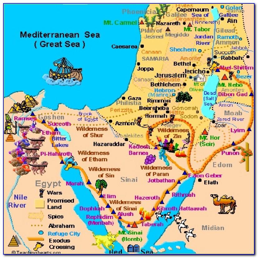 Printable Bible Land Maps