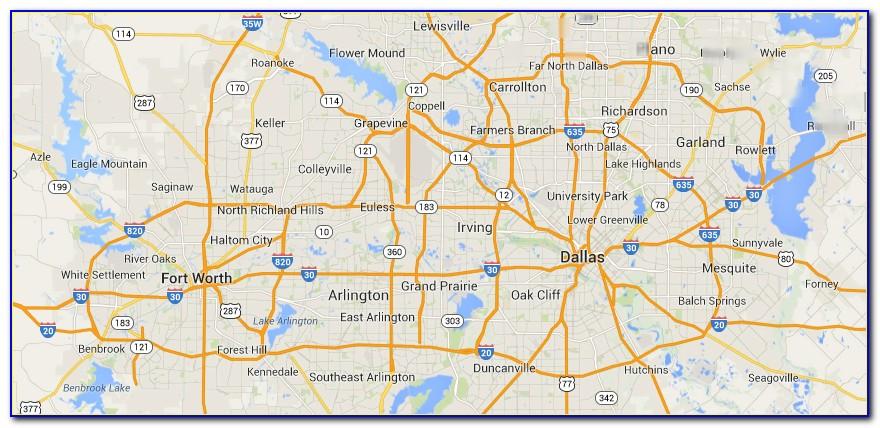 Printable Map Of Dfw Metroplex